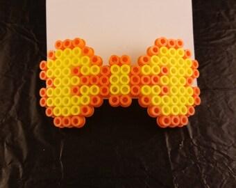 Orange and Yellow Hair Bow