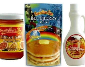 Breakfast in Paradise: Choose your Pancake Mix and Flavored Syrup