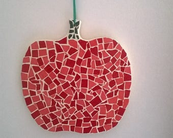 Mosaic, red apple mosaic Apple
