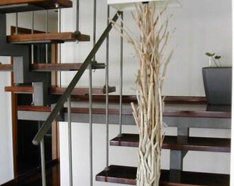 Driftwood lamp,driftwood floor lamp,driftwood decor.beach decor,lighting,driftwood art,coastal home decorr,nautical decor.,wood lamp,lake