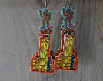Vintage King Kong Earrings by Boom Boom Wiz