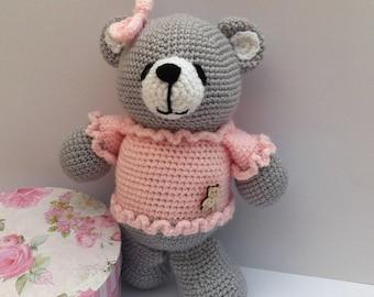 Amigurumi Bear, Amigurumi Animal, Balerina bear, Crochet Bear, Crochet Animal, Bear Toy, Soft Toy, Bear Plush, Crochet Toy, Girly Teddy bear