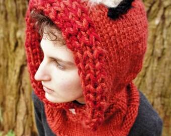 Fox Knit/Crochet Hood