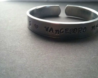 12 gauge aluminum personalized bracelets with designs