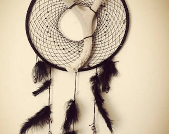 Black Deer Antler Dreamcatcher