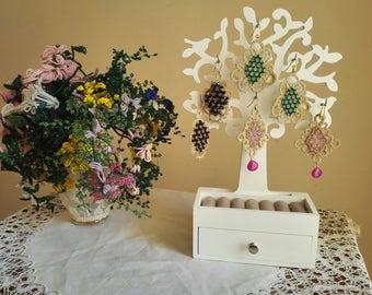Handmade earrings-Swarovski and Twine