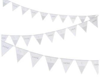Eat Drink and Be Married Paper Bunting with Flags