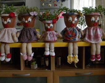 Flower Pot People/flower pot/gift/indoor decor/outdoor decor