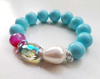 Gemstone bracelet, bracelet craft, handmade bracelet, bracelet, bracelet, bracelet with crystals