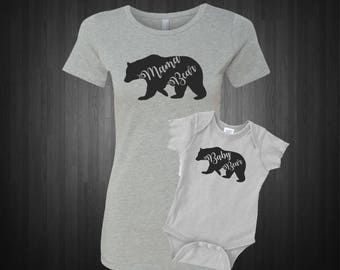 Baby Bear and Mama Bear, Matching Mother Daughter and Son Shirts, Mommy Baby Matching Outfit, Mother's Day Gift, Baby Shower Gift,