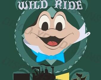 Vintage Disney World WDW Mr. Toad's Wild Ride Poster