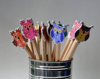 Owl decorative colouring pencils Pack of 5