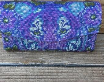 Necessary Clutch Wallet/NCW/Clutch/ accordion wallet/ wallet/tiger/purple