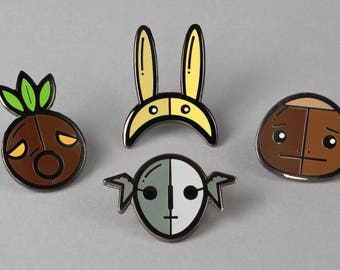 Complete set of enamel pins inspired by The Legend of Zelda: Majora's Mask