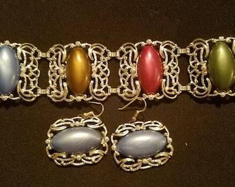 Vintage Sarah Coventry Bracelet and Earrings VSC01