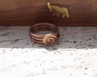 Copper mens ring, copper ring for men, rustic copper ring, jewelry for men, copper man ring, copper filigree ring for men, copper filigree
