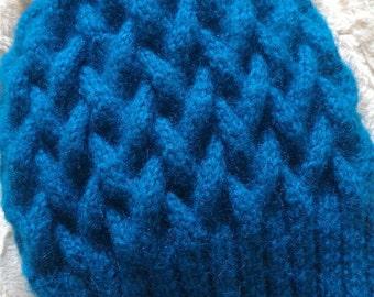 Warm winter wool knitted hat