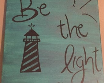 Be the light- canvas