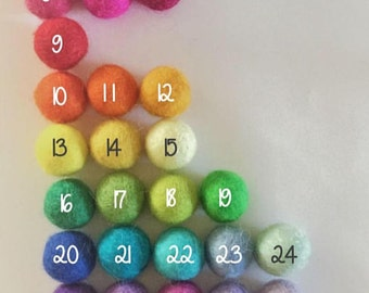 Custom felt ball garland