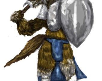 Lycan Warrior Print