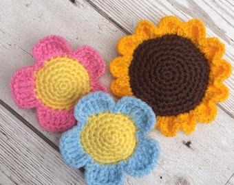 Crochet Flowers - Catnip Toys - Cat Toy - Gift Set - Pet Toys - Unique Cat Toy - Flower Cat Toy - Cute Cat Toys - Crochet Cat Toys