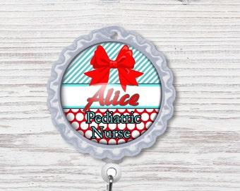 Nurse Badge Reel | Bottle Cap Badge Reel | Nurse Badge Reel | Bottle Cap Retractable Badge Reel | Nurse Badge Reel | CNA Badge