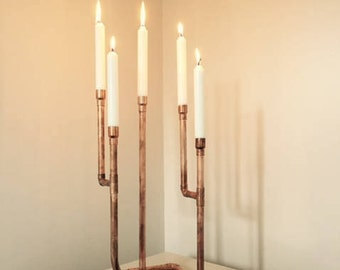 Five tier copper candelabra 7th wedding anniversary