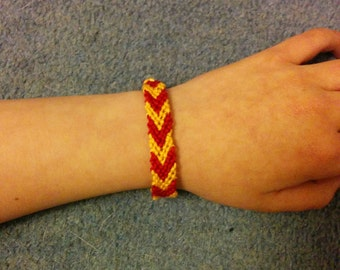 Custom Braided Macrame Chevron Cotton Friendship Bracelet (#1)