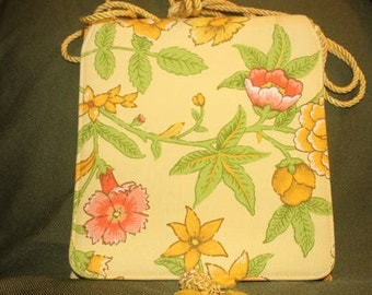 Vintage Yellow Floral Bag