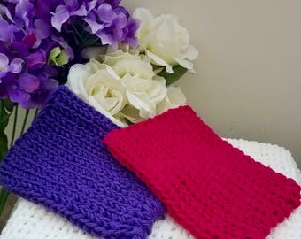 Purple and Fuchsia (Pink) Washcloths
