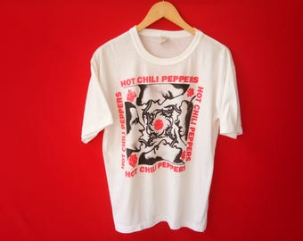 vintage Red hot chili peppers grunge band music concert medium mens t-shirt