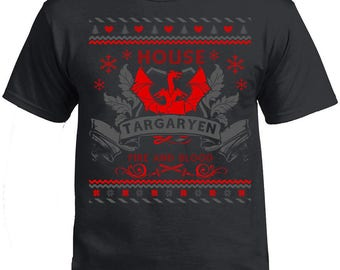 Game of Thrones, Game of Thrones Tshirt, House of Targaryen, Fire and Blood Targaryen T-shirt. Got Shirt