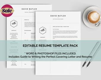 minimalist resume modern man resume resume template mac one page resume simple