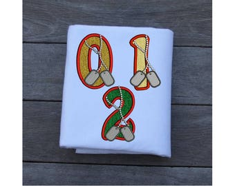 Applique Numbers Embroidery Design, Dog Tags Machine Embroidery Designs - 4 Sizes - Birthday Numbers Embroidery - Embroidery Machine Design