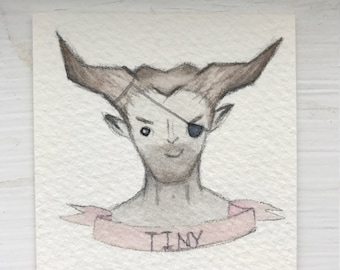 The Iron Bull - Dragon Age Inquisition Watercolour Bust (original)