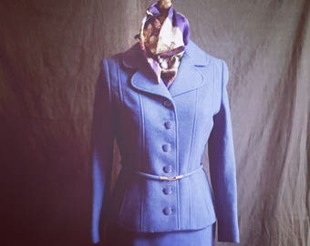 1960's Purple Wool Suit