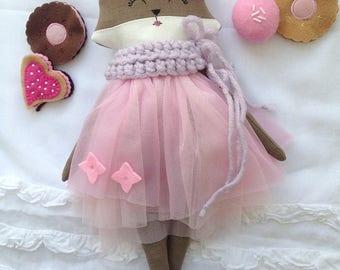 Stuffed toy sewn Fuchs / Fox / stuffed animal Fox / fabric doll Fox / Fuchs from fabric / decoration nursery / rag doll / vintage Fox