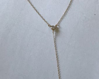 Gold filled y necklace with CZ