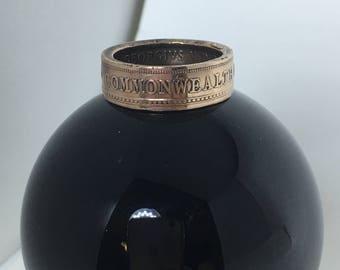 Australian Penny Coin Ring 1935 U.S Size 9