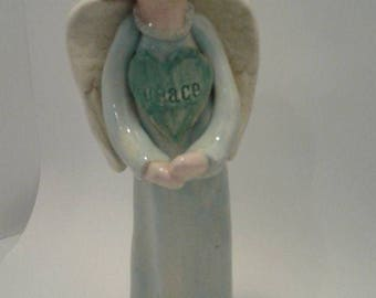 Ceramic Angel - 'Peace' Figurine