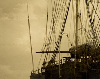 Ghostly Sails (Fine Art Paper) - a giclee print looming in from the past