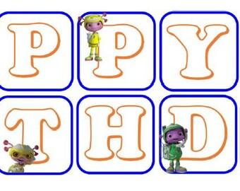 Floogals Happy Birthday Banner
