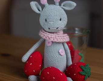 Giraffe crochet doll Amigurumi 26 cm
