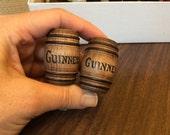 RESERVED for JAMES - Aged Wooden Guinness Barrels Casks - Dollhouse Miniature