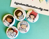 Small Protest Pins - Set of 5 Intersectional Political Activism Lauren Ingraham