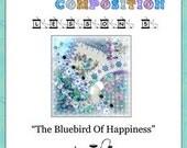Crazy Quilt Block Pattern Bluebird Of Happiness by Pamela Kellogg