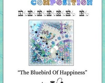 Crazy Quilt Block Pattern Bluebird Of Happiness by Pamela Kellogg