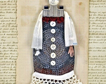 Mixed Media Art Doll Della