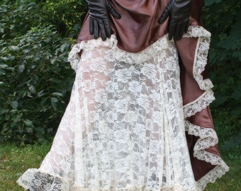 My Faire Lady - Steampunk Bustle Skirt High Low Long Short - Ready to Ship