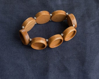 MADE TO ORDER - Bracelet blank bezel settings finished hardwood - 18 mm - (Z18c) - Set of 3, 5, 8 or 9 ea